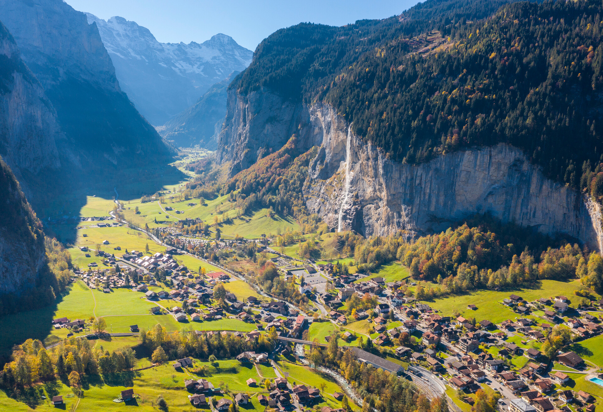 An impressive view over Swiss landscape.