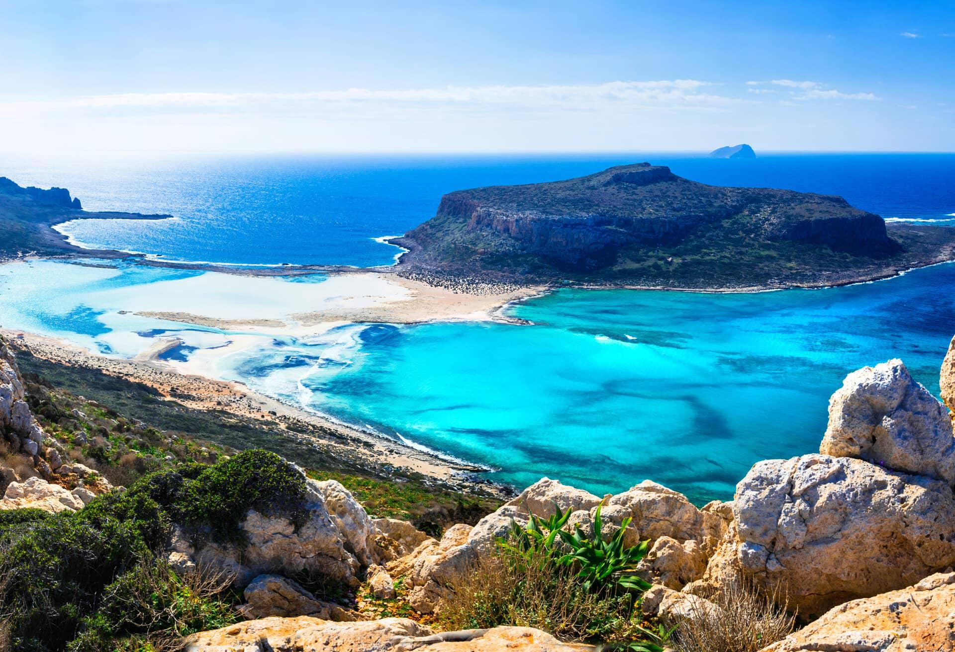 A breath-taking view over Crete, Greece.