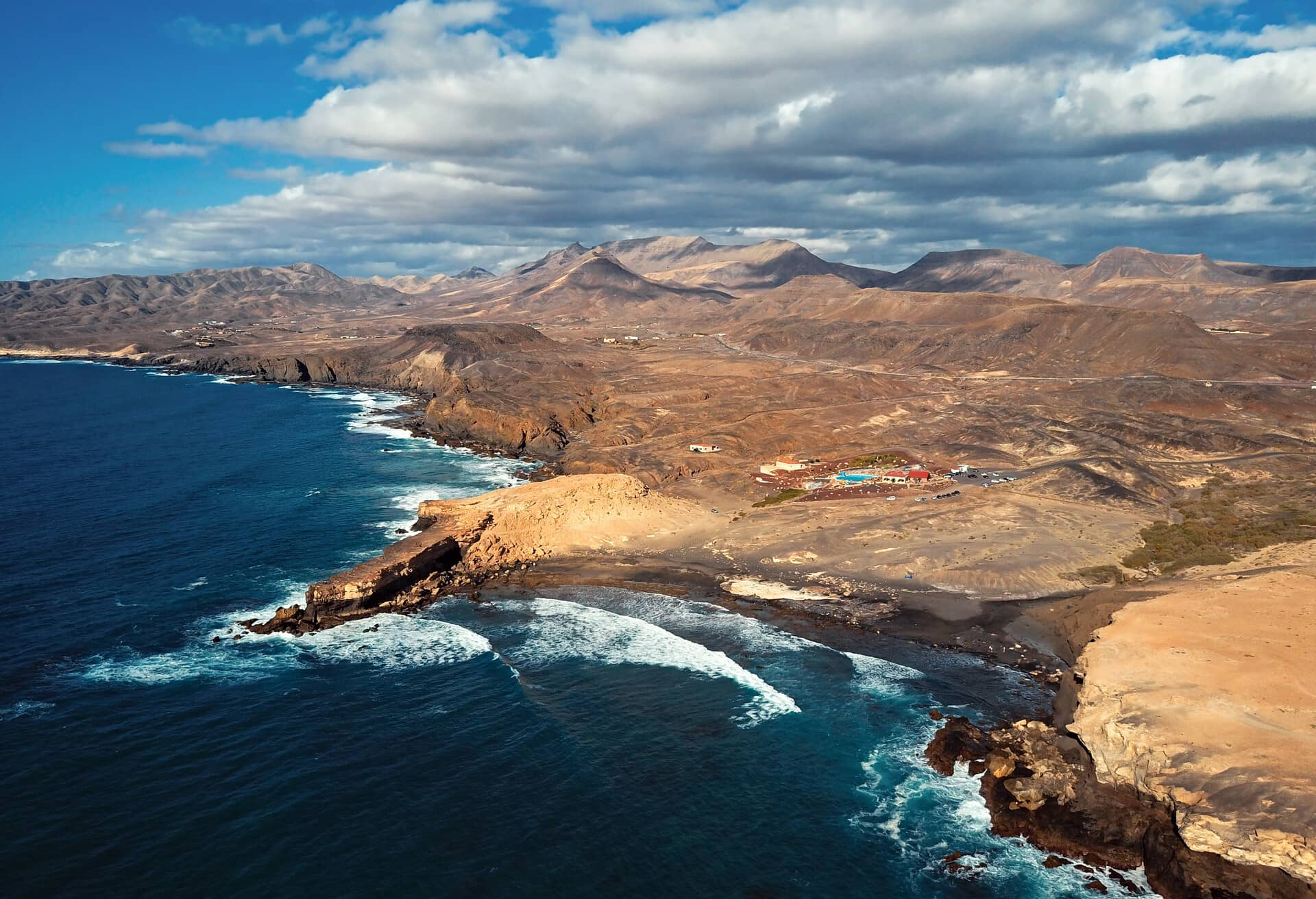 Impressive view over the Canary Islands in the off-season scenery.