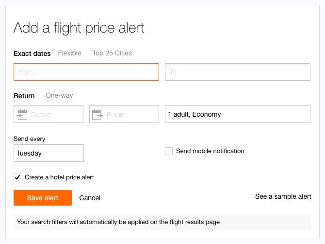KAYAK Price Alert