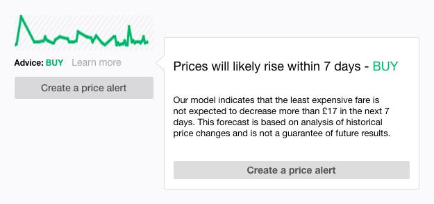 KAYAK Price Forecast