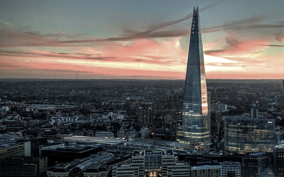 The Shard view Proposal Romantic
