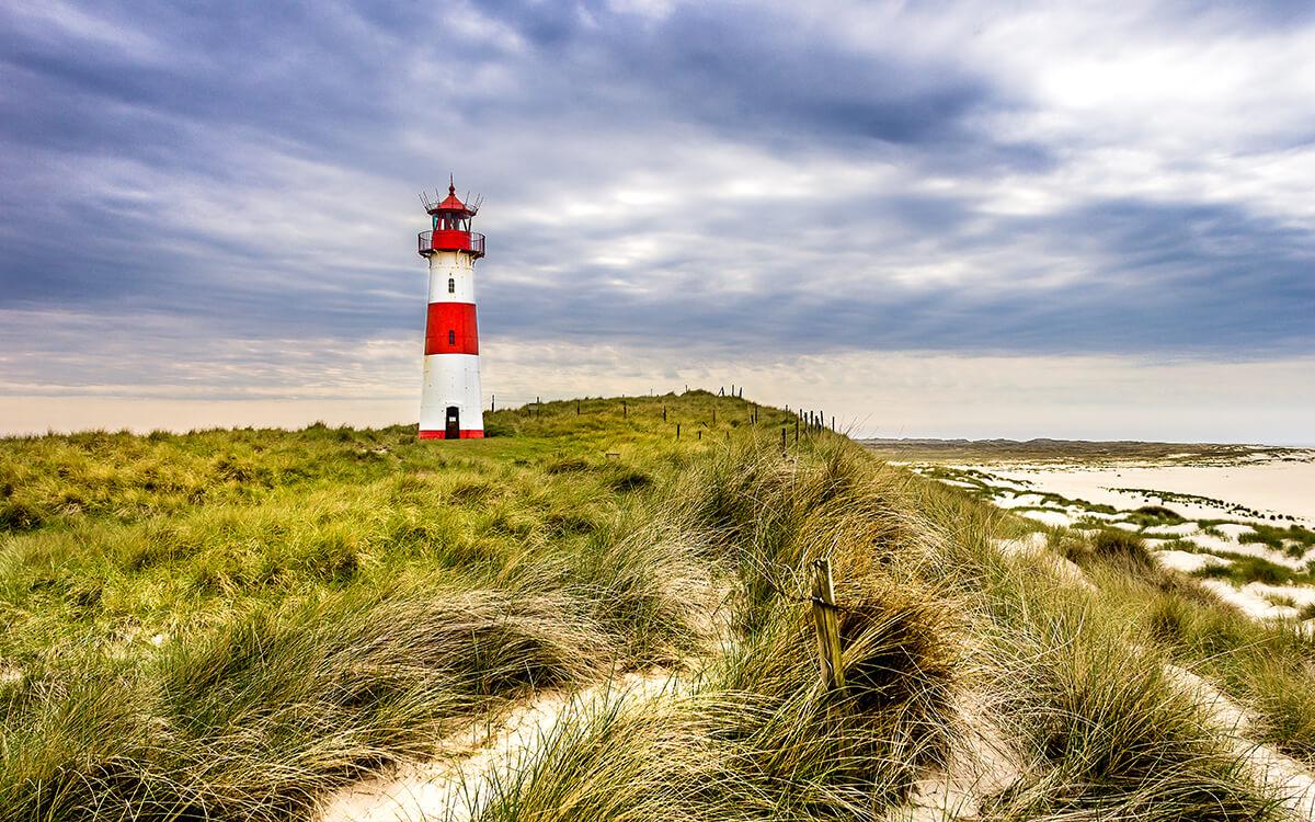 Sylt lighthouse coast