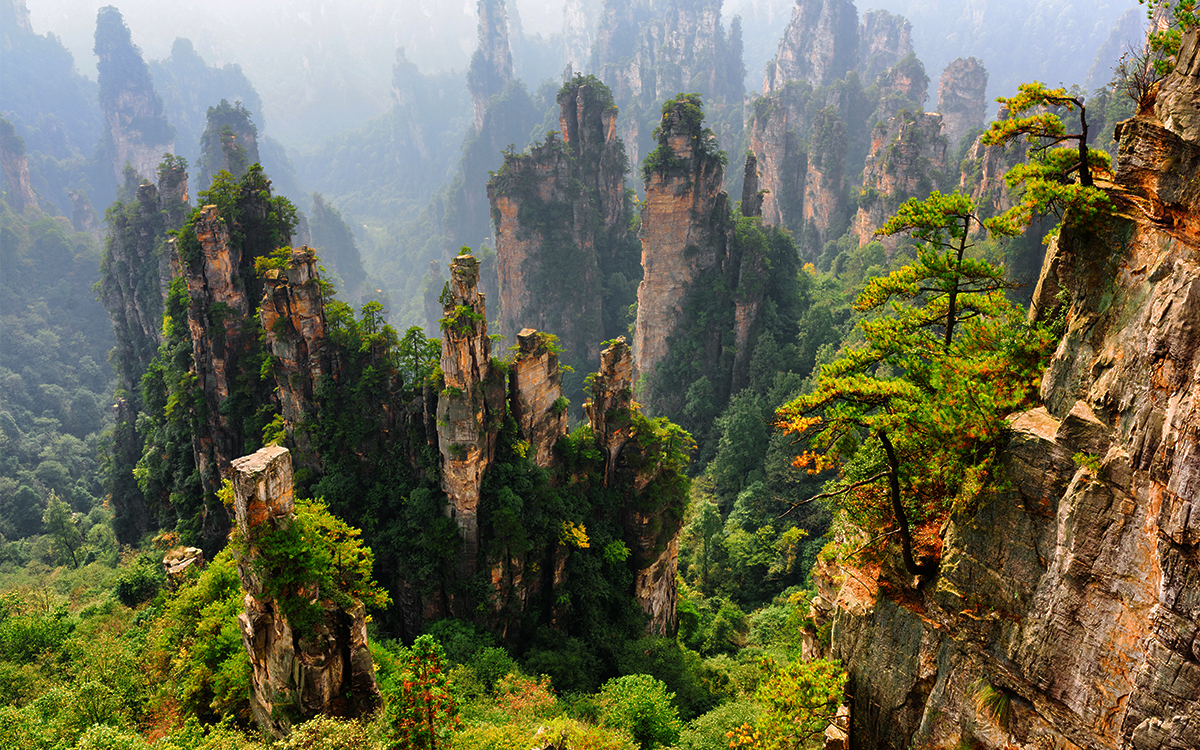 Spectacular views of the Avatar Hallelujah Mountain in China