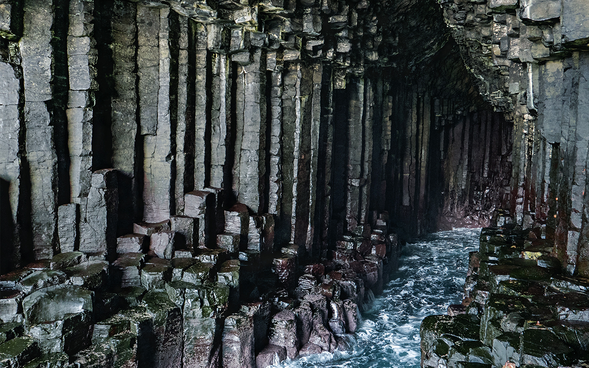 The incredible interior of Fingal's Cave