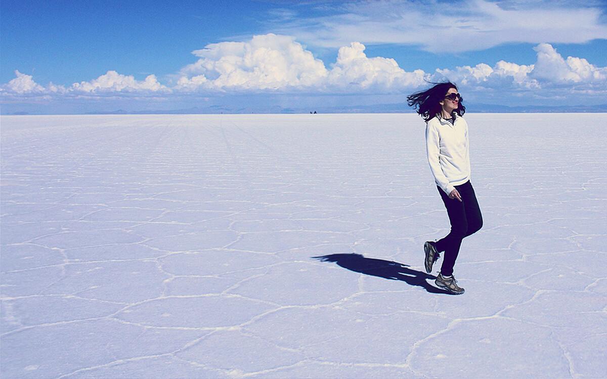A stunning scene of Salar de Uyuni
