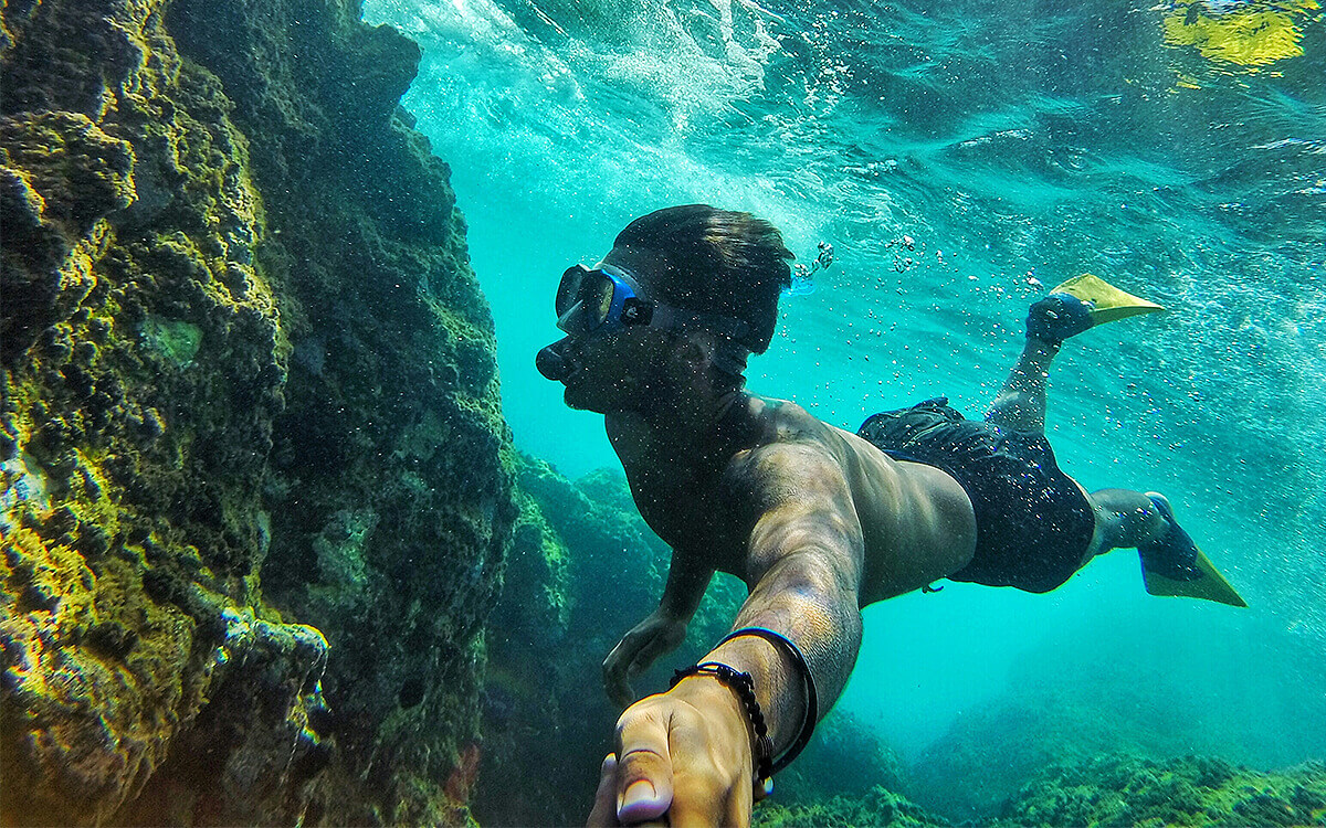 Image Caption: Underwater adventure is closer than you think in Karpathos, Greece.