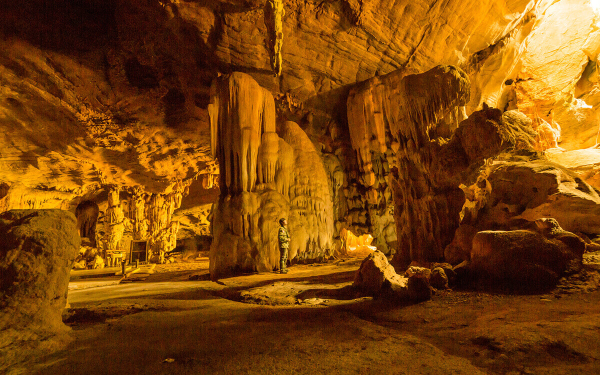 Go underground at Postojna Cave Park.
