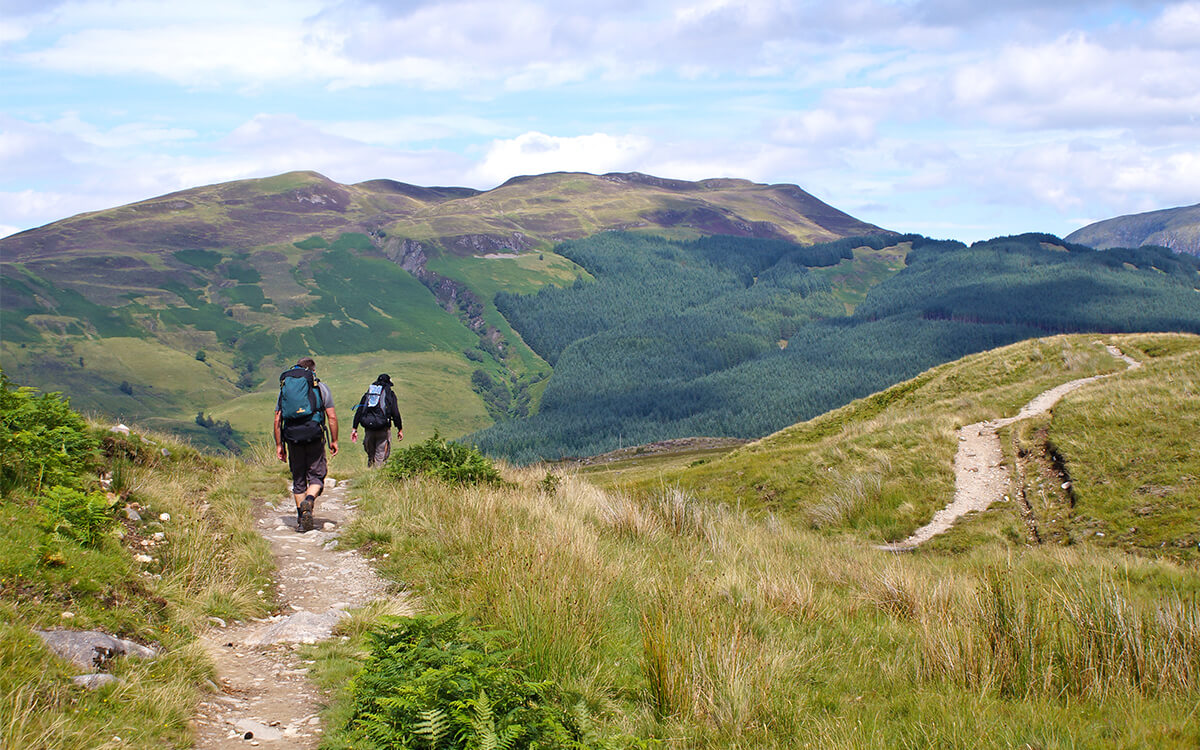 Get out into nature with a hike on Scotland's West Highland Way.
