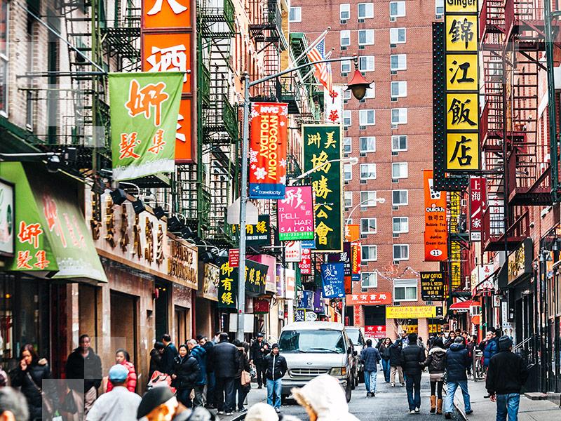 Dine on dim sum in New York's Chinatown.