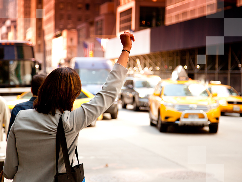 Get around like a local by hailing a yellow taxi.