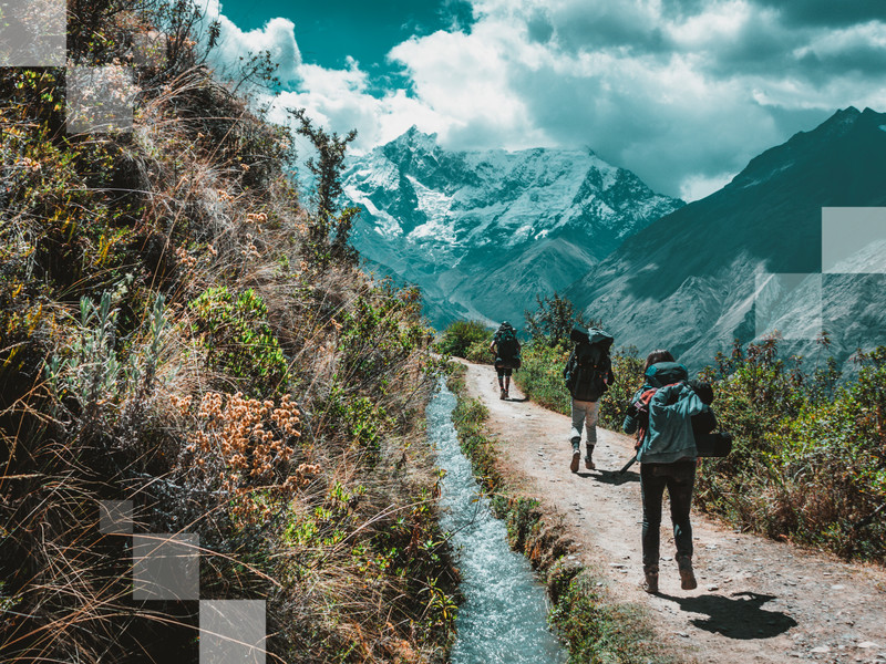 The Salkantay Trail is all about nuances of green, turquoise and blue