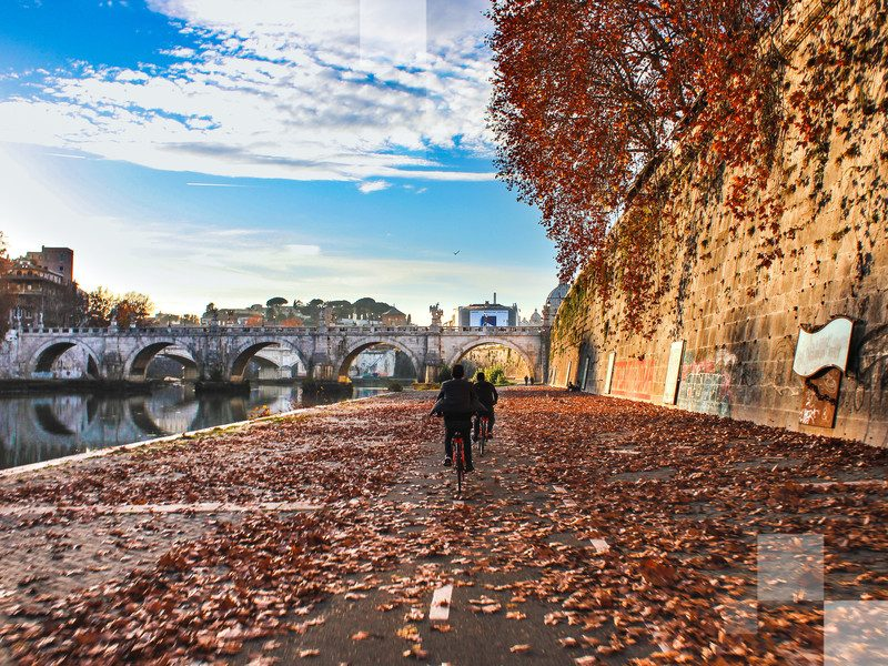 Autumn weather is ideal for wandering Rome, espresso in hand
