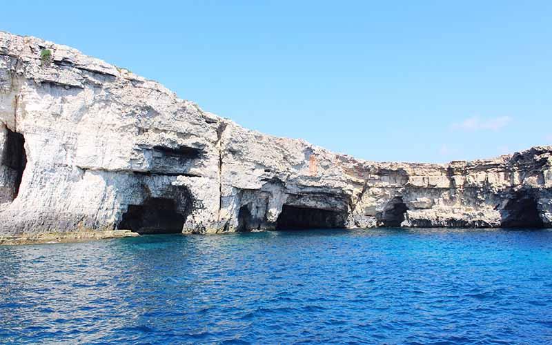 Plenty of caves to dive through on Comino Island